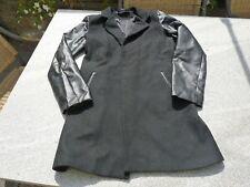 Jacke Blazer von ZARA schwarz mit Ärmeln aus Kunstleder Gr. S