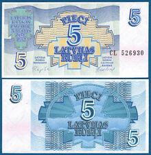 LETTLAND / LATVIA 5 Rublu 1992 UNC  P.37