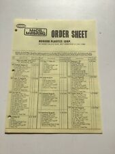 Vintage Aurora Model Motoring Order Sheet New Unused 7-2