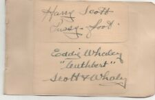 More details for 3 x 3 card , hand signed scott & whaley - attached to vintage album page
