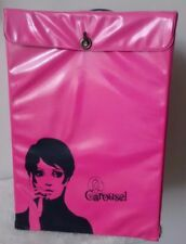 Vintage 60's Mod Twiggy Carousel Wig Pink Vinyl Storage Box Case
