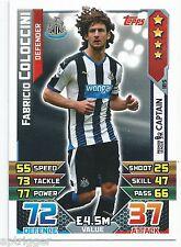 2015 / 2016 EPL Match Attax Base Card (185) Fabricio COLOCCINI Newcastle