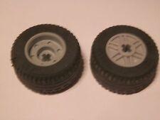 Lego 55982c03# 2x Reifen Räder Rad 30.4x14VR Felge grau neu hellgrau 8142 42023