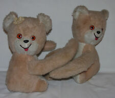 "Vintage Lot of 2 Pussy Cat Toy Hugger Poseable Sloth Plush Stuffed Animal 10"" T"