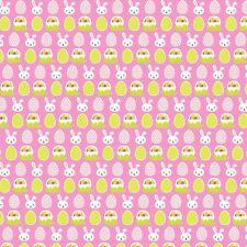 Arco de la tela de lona impresa A4 Huevos De Pascua Conejo Rosa ES17 hacer Brillo arcos del pelo