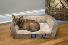 Pets' Gel Memory Foam Quilted Orthopedic Couch Plush Dog Bed, Small Brown New