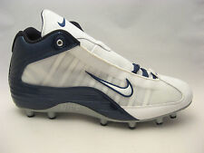 Nike Mens Speed TD 3/4 Football Cleats 15 White Navy Blue 303812-141 NEW $95