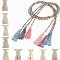 1 Pair Window Curtain Rope Tie Backs Nylon Tiebacks Room Bedroom Tassel Decor