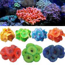 1x Aquarium Artificial Fake soft Disc Coral Plant Fish Tank Ornament Multi Color
