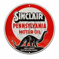 Vintage Garage Sign Metal Decor Gas and Oil Sign - Sinclair Pennsylvania Oil