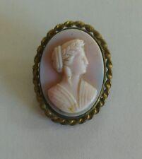 Broche Camafeo de vidrio antigua victoriana Antique Victorian
