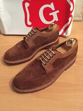 Grenson Sid  Tan Suede  Brogue Shoe Uk 7 RRP£230