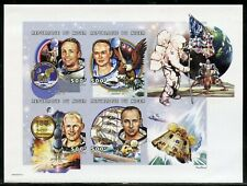 NIGER  SPACE  APOLLO 11 ARMSTRONG, COLLINS, ALDRIN &  BEAN  IMPERF SHEET  MINT
