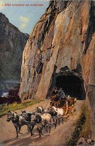 Postkutsche am Urnerloch bei Andermatt ngl 161.112