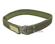 Airsoft Outdoor Tactical Belt Military Army Waist belt with Buckle Woodland