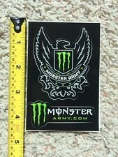 "Monster Energy Army Logo 4"" Sticker Decal Sponsor Sheet Kit 2 Stickers"