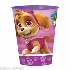 16oz Paw Patrol Pink Puppy Pets Birthday Party Plastic Loot Treat Favour Cup
