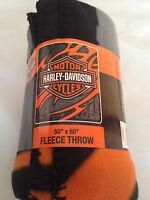 Harley Davidson Biker Tattoo  fleece blanket  throw NEW