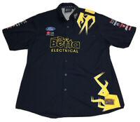 Ford V8 Supercars Team Betta Electrical 888 Auth Race Gear Navy Mens Shirt Sz M