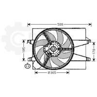 Fan Engine Cooling Radiator Fan Blower Motor Ford Mazda Fiesta Van V 2