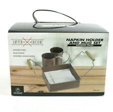 Copper Cuisine Napkin Holder And Mug Set NIB (259)