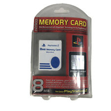 Nyko Official Sony PlayStation 2 PS2 8MB MagicGate Memory Card White New Sealed