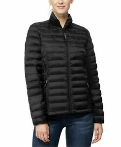 32 Degrees Womens Jacket Black Size Medium M Puffer Packable-Down $100 128