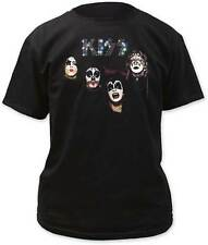 KISS SELF TITLED ALBUM PAINT ROCK & ROLL DETROIT MUSIC BAND BLACK T SHIRT S-2XL