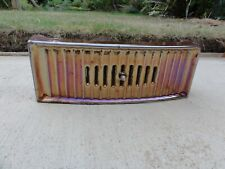 Vintage Iridescent Lustre Enamel Fire Ash Pan Cover Dampener Rare Design Art dec