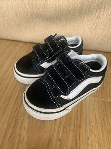 Toddler Black Vans UK Size Infant 3.5