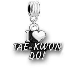 I Love TAE-KWON-DO Charm Bead