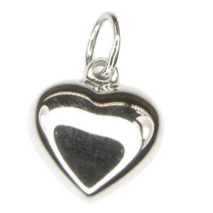 Anhänger, Herz, Silber 925, rhodiniert