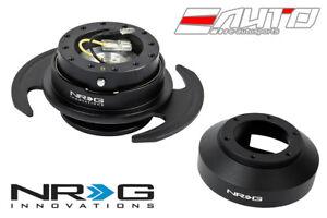 NRG Steering Wheel Hub + Black Gen3 Quick Release BK Ring for 350z 370z G35 G37