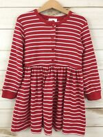 Hanna Andersson Girls Red Stripe Long Sleeve Play Day Dress. Size 110(5).