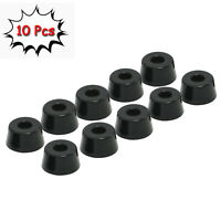 Pack of 10 Round Rubber Feet with Stainless Steel Washer Built-in (D25x20xH13mm)