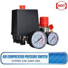90-120psi 20A Air Compressor Pressure Switch Control Cut Off Valve  0.8MPa US