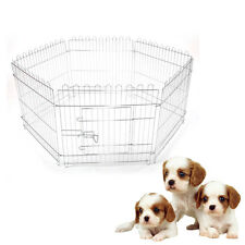"25"" Stylish Foldable Dog Playpen Crate Fence Pet Cat Play Pen Exercise Cage"