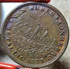 HT-18 Low-60 1837 Anti Van Buren / 1841 Webster Credit Currency Hard Times Token