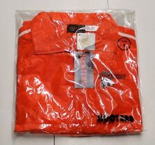 New AUTHENTIC HOOTERS Orange Jumpsuit Track Warm Up Suit Small /S Orange & White