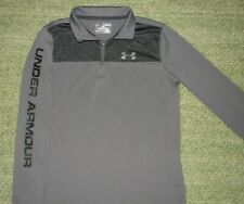 UNDER ARMOUR ¼ Zip Pullover Shirt LOGO Down Sleeve YMD Boys Youth M 10/12