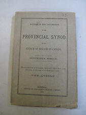 Religion Christianity Provincial Synod Church of England in Canada Montreal 1887