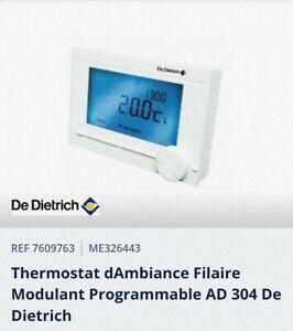 Thermostat d'ambiance modulant filaire  De Dietrich  AD 304