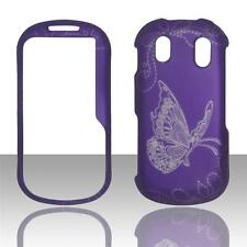 For Samsung Intensity 2 II U460 Grey Butterfly Purple Plane Case Hard Cover