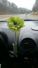 VW New Beetle GREEN Daisy Silk Flower plus 1 Original Clear Vase NEW!