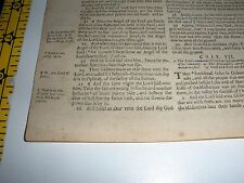 Very Rare ORIGINAL 1599 GENEVA Bible Leaf JEHOVAH Jdg 6:24  Watchtower research