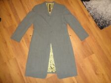 MARITHE FRANCOIS GIRBAUD GREY WOOL BLEND GABARDINE 3 BUTTON REDINGOTE-SIZE IT 44