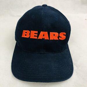 Vintage Nike Chicago Bears  NFL Pro Line Authentic Hat White Tag Adjustable Blue