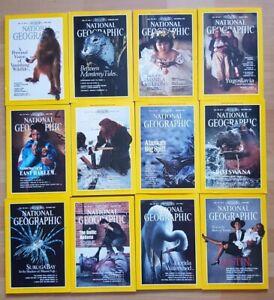 National Geographic 1990 english komplett Sammlung 1-12 Zeitschrift Hefte maps