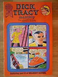 Dick Tracy Monthly #8 by Chester Gould (Blackthorne Comics - 1987)