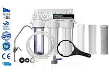 Premium 3 Stage Under Sink Ceramic Water Purifier and Dechlorinator Filter Kit